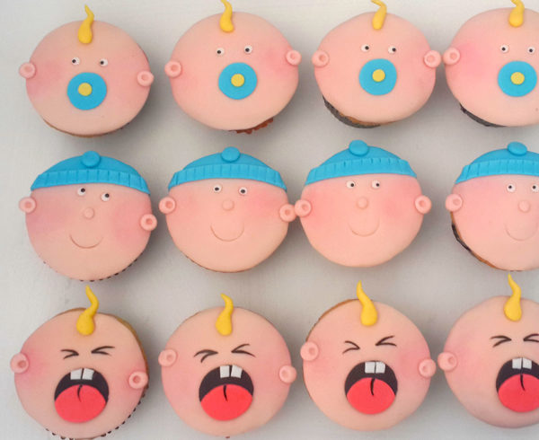 personalised baby shower cupcakes