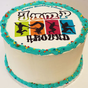round picture cake