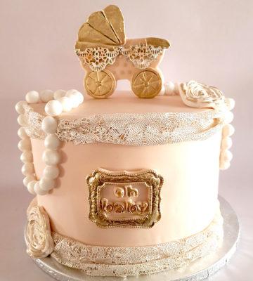 baby shower cake pram